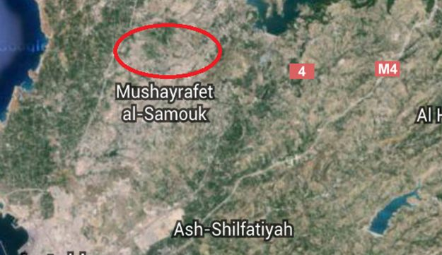 A google map image showing where the blasts were reportedly heard.