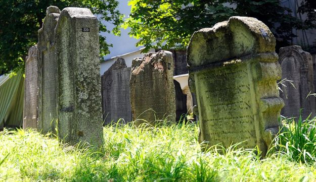 Tombstones at a small Jewish Cemetery in Vienna, Austria, July 10, 2013.