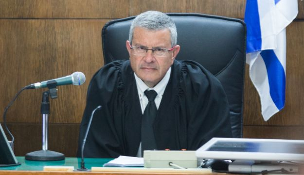 Judge David Rozen presides over the Holyland trial sentencing. May 13, 2014.