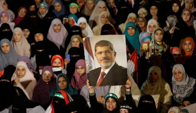 Supporters of Egypt's ousted President Mohammed Morsi in Cairo, July 10, 2013.