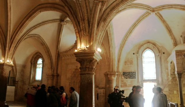 The last supper room in Jerusalem, Cenacle, Mount Zion, 2008.