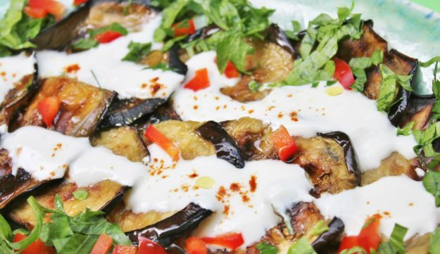 Eggplant with yogurt.