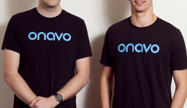 Onavo founders Guy Rosen, left, and Roi Tiger.