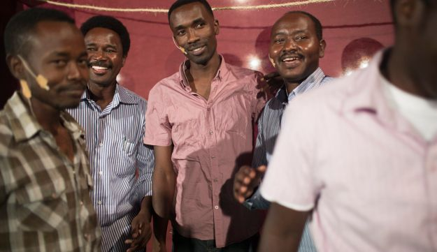 African migrants' play
