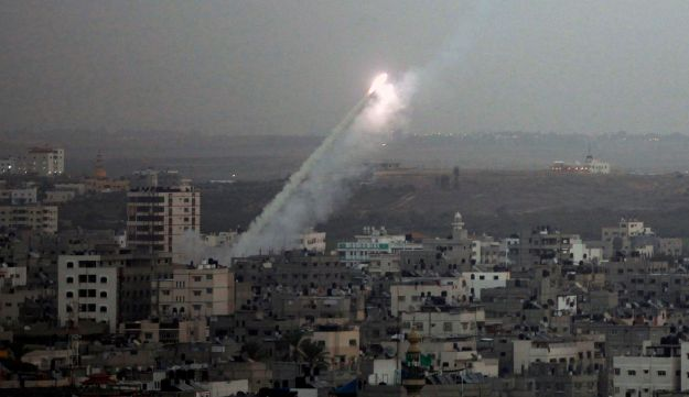 A rocket launched from Gaza