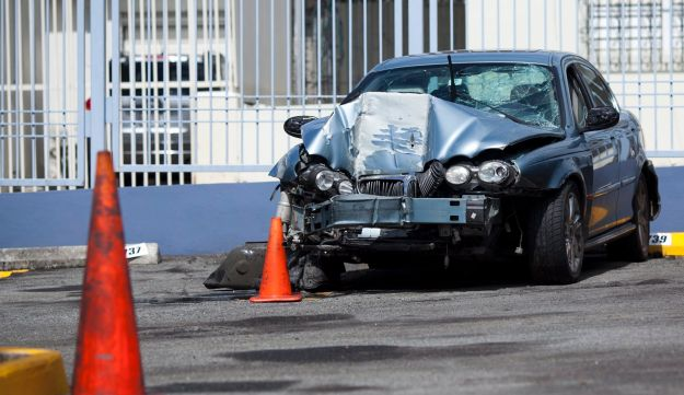 Mobileye makes a warning system aimed at preventing crashes like the one this car endured.