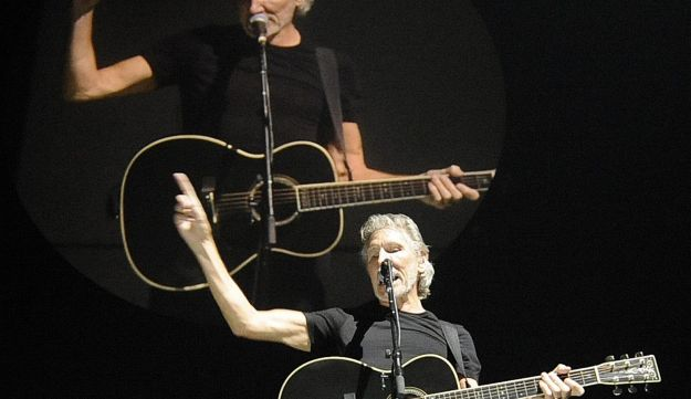 British musician Roger Waters, one of the founders of the group Pink Floyd, performs in Prague.