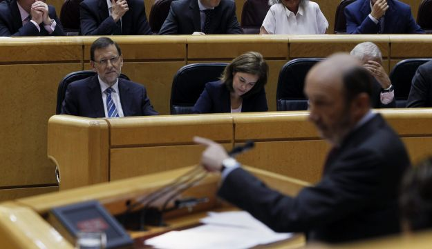 A session of the Spanish Parliament, Madrid, Spain, August 2013.