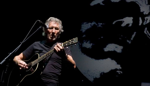 """Roger Waters perfoming """"The Wall"""" in Canada, 2010. AP"""