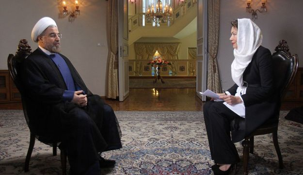 Iranian President Hassan Rohani speaks to NBC's Ann Curry in Tehran, September 18, 2013.