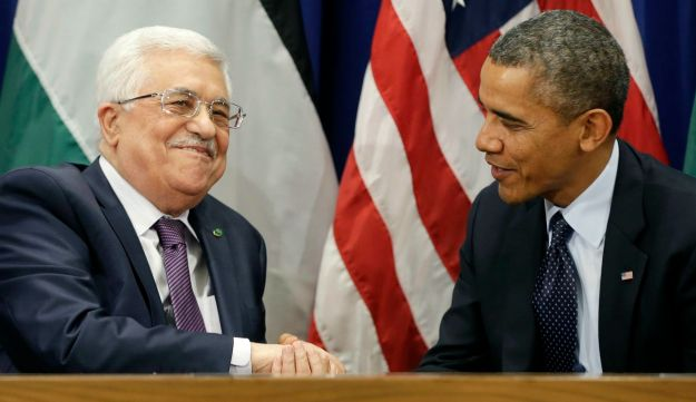 Abbas and Obama meet on sidelines of UNGA.