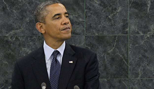 Obama during his UNGA address.