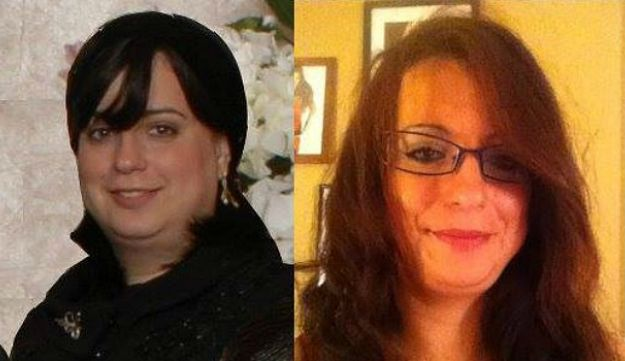 Deb Tambor, pictured as she appeared before (left) and after leaving the group.