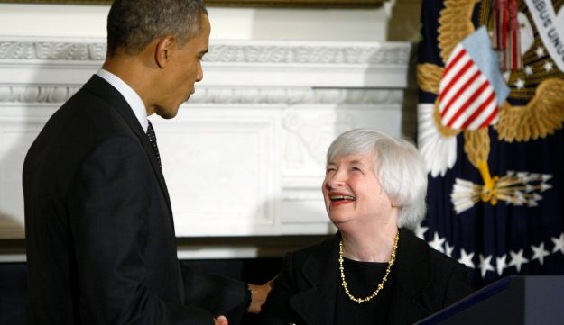 Janet Yellen and President Obama
