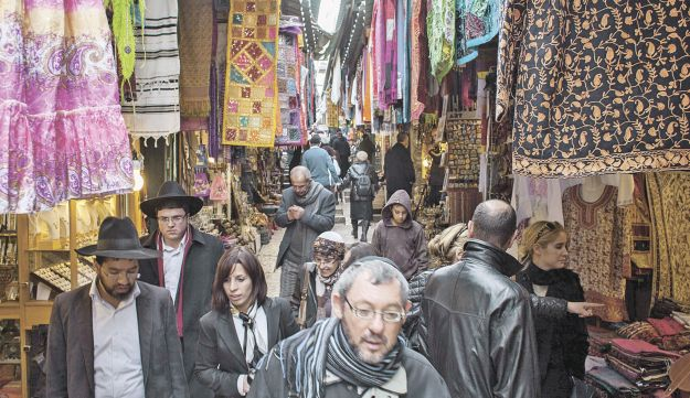 The Arab 'shuk' in the Old City of Jerusalem.