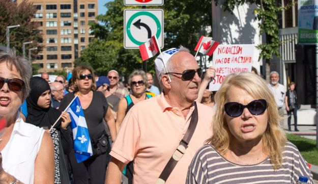 Montreal Jews protesting the proposed Charter of Quebec Values.