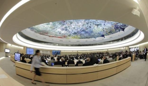 A session of the Human Rights Council at the UN European headquarters in Geneva