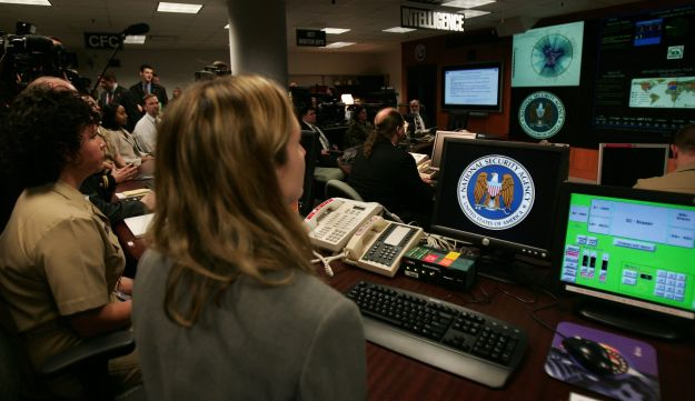 Experts working at the Threat Operations Center inside the National Security Agency
