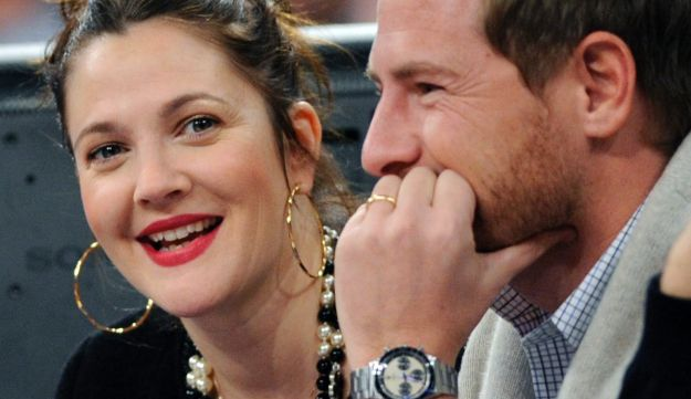 Actress Drew Barrymore, left, and her husband Will Kopelman in New York.