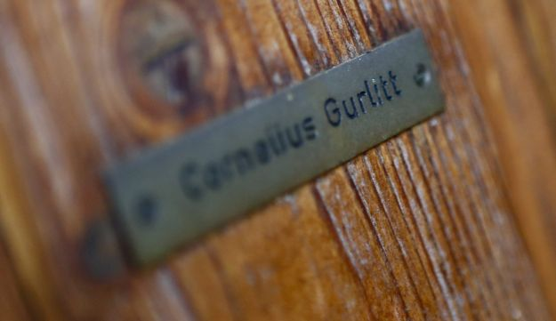 The name plate on the house of art collector Cornelius Gurlitt is pictured in Salzburg.