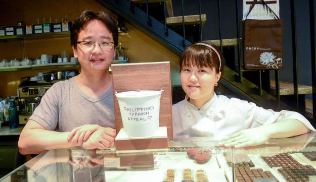 Alex and Fanny Chan in their chocolate shop,