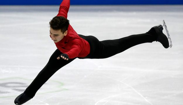 Max Aaron competes in the Men's Free Skate at the U.S. Figure Skating Championships in Omaha
