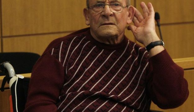 Heinrich Boere, during his trial in the courtroom of the court in Aachen, Germany,  March 23, 2010.