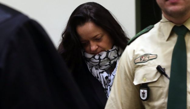 Accused neo-Nazi Beate Zschaepe enters court in Munich.