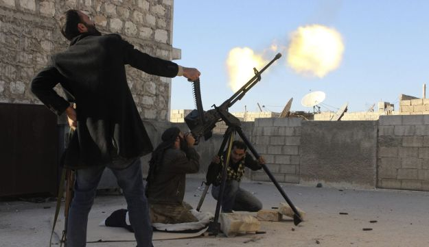 Syrian rebel fighters.