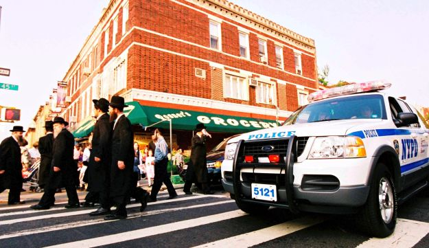 Ultra-Orthodox Jews in Brooklyn.