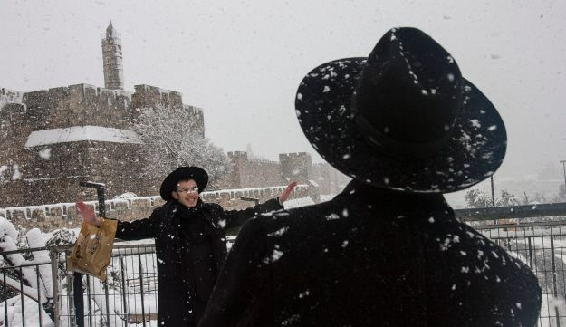 Jerusalem in the snow (Olivier Fitoussi)