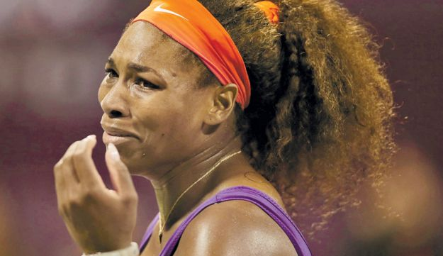 Serena Williams during her win in Qatar on Friday.