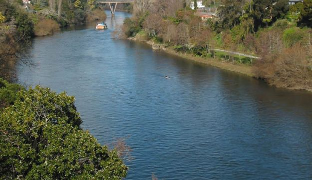 The Waikato River, where Paul Aber's body was found.