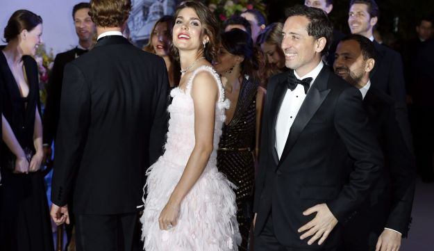 Charlotte Casiraghi and French actor Gad Elmaleh  in Monaco, March 23, 2013.