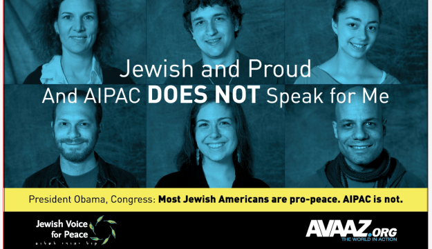 The anti-AIPAC posters that are posted across Washington D.C.