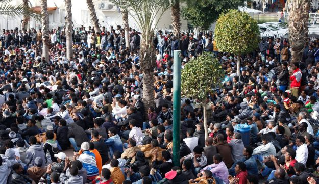 African migrants in Tel Aviv, Jan. 7, 2014