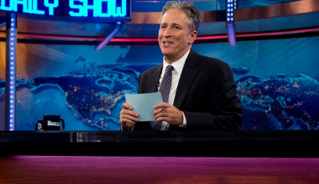 Jon Stewart during a taping of 'The Daily Show with John Stewart.'