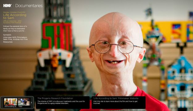 Sam Berns is seen in the HBO documentary 'Life According to Sam'