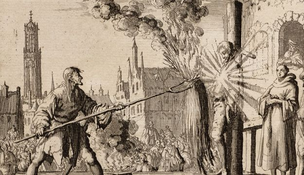 Execution of the Anabaptist Hendrik Eemkens in 1562 in the city of Utrecht