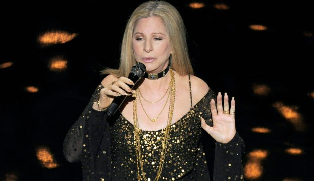 Actress and singer Barbra Streisand performs 'Memories' during the Oscars