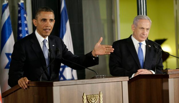 U.S. President Barack Obama and Prime Minister Benjamin Netanyahu at their joint news conference