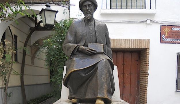 Tourist Trap?: A statue of Maimonides stands in the middle of Córdoba's Jewish quarter.