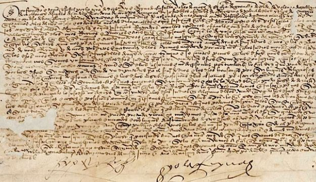 An order signed by Isabella and Ferdinand in June 1492.