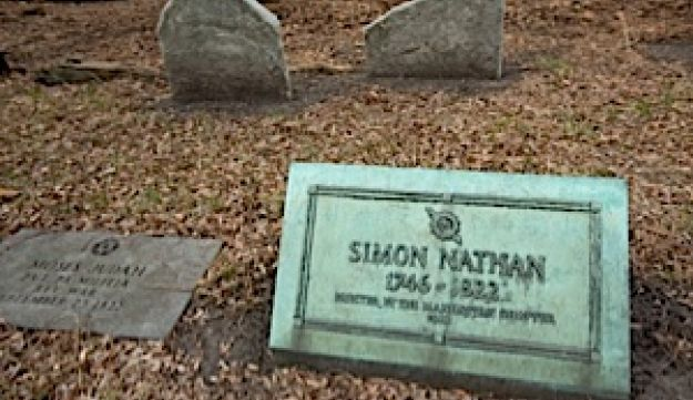 The grave of one of the author's Sephardic ancestors at the Chatham Square cemetery.
