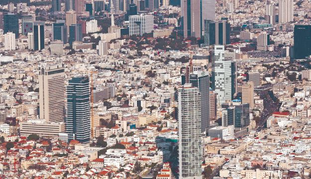 Tel Aviv and its skyscrapers.
