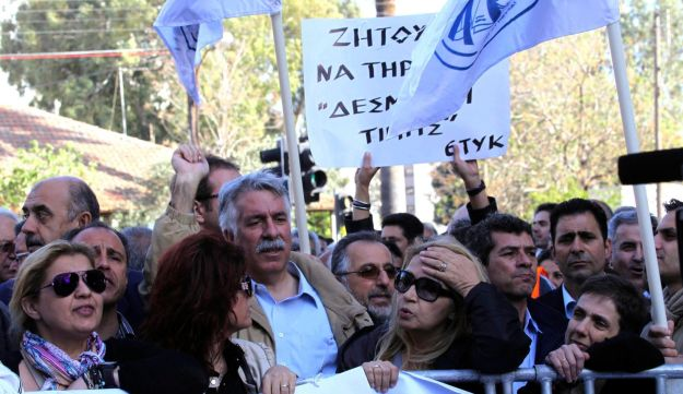 Cyprus bank protest pensions Reuters