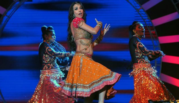 Illustration: An Indian Bollywood actress performs on April 9, 2013.