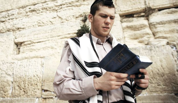 Salita at the Western Wall in Jerusalem in 2010.