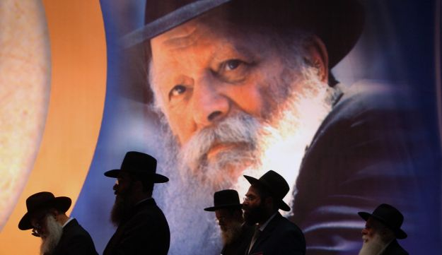 Members of the Chabad Hasidic sect