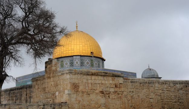 The Temple Mount compound in Jerusalem.